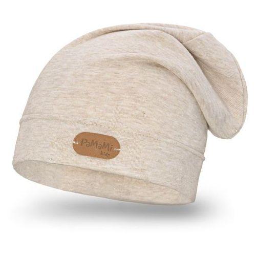 Wiosenna czapka dziewczęca PaMaMi - Beżowy - Beżowy, kolor beżowy