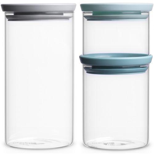 Brabantia zestaw szklanych pojemników, 3 szt.