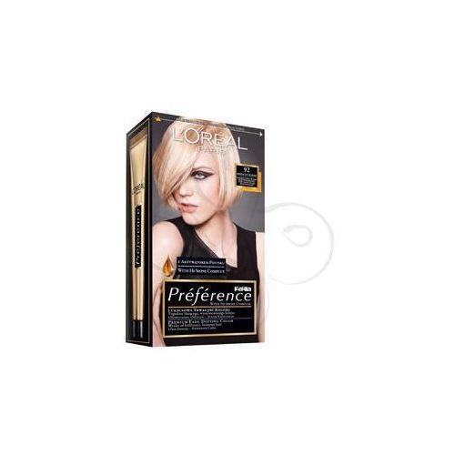 Feria Preference farba do włosów 92 Iridescent Blonde Bardzo jasny blond beżowo-perłowy, L'Oreal Paris