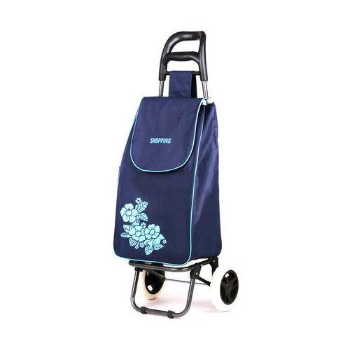 Wózek na zakupy Flower granat (wózek na zakupy)