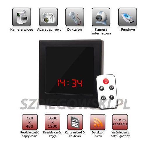 Elektroniczny zegar szpiegowski z mini kamerą ET-F8 od otosklep.bazarek.pl