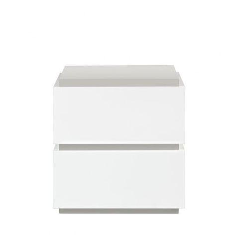 TemaHome Slot Nowoczesna Biała Szafka Nocna, Biały Lakier Matowy 48cm - 9000-759284 - produkt dostępny w sfmeble.pl