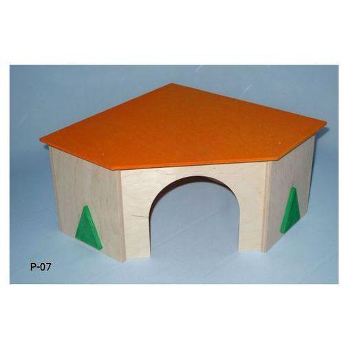 PINOKIO Domek dla gryzoni narożny duży 28x15cm - produkt z kategorii- domki i klatki dla gryzoni