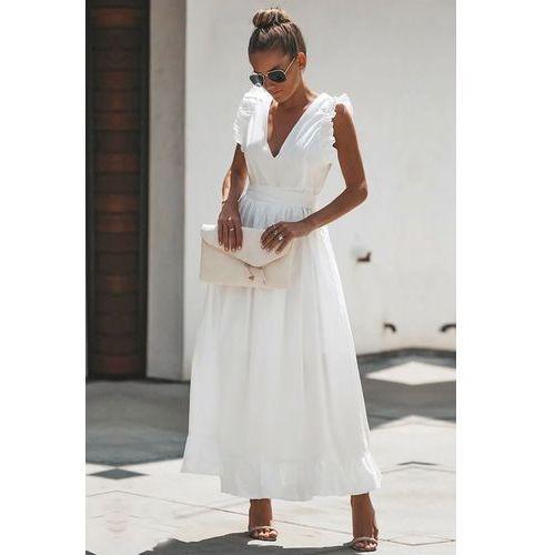 Sukienka BELISIA WHITE, kolor biały