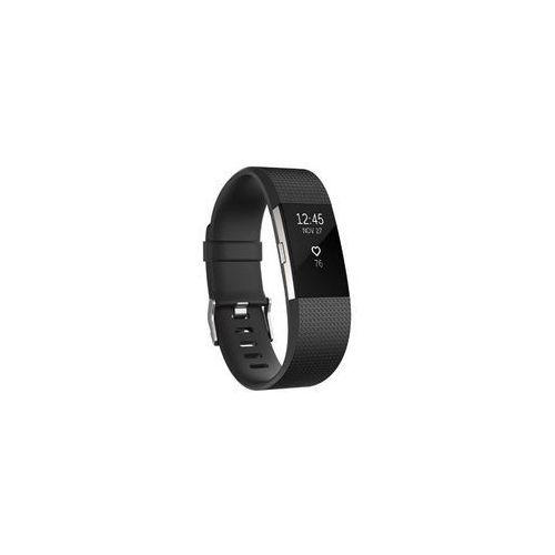 Fitbit opaska charge 2, czarno/srebrna (black/silver), mała (s)