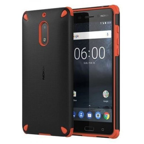 Etui rugged impact case cc-502 do nokia 5 pomarańczowo - czarny marki Nokia