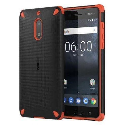 Nokia Etui rugged impact case cc-502 do nokia 5 pomarańczowo - czarny (6438409002686)
