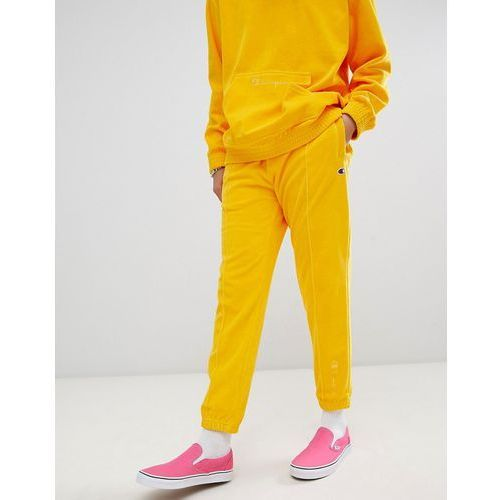 Champion velour joggers in yellow - Yellow