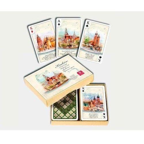 Karty do gry kraków akwarele komplet brydżowy 2x55 listków marki Cartamundi