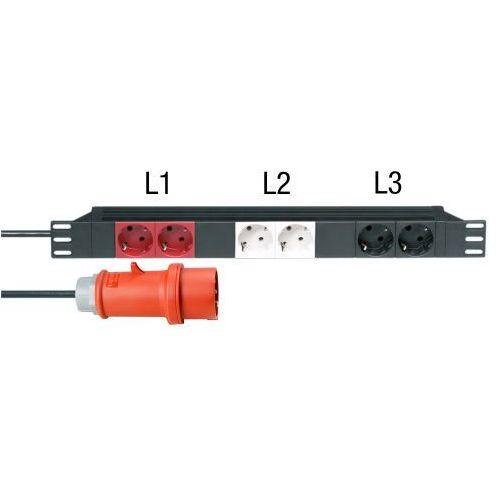 Adam hall parts 87473 - 6-gniazdkowy rozdzielacz zasilania 19″, 3 obwody prądu