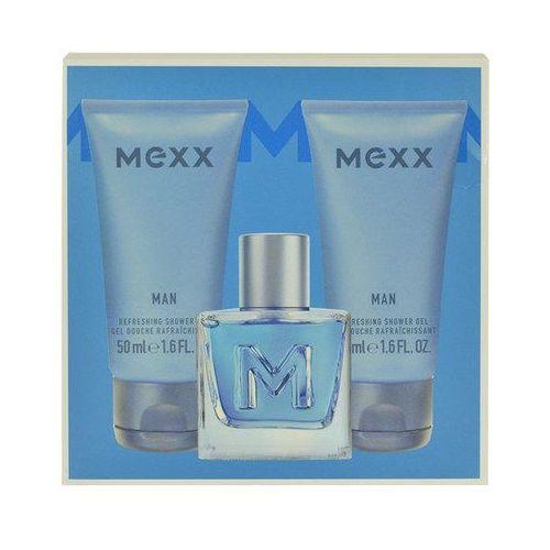 Mexx Man M Zestaw perfum Edt 50ml + 2x50ml Żel pod prysznic