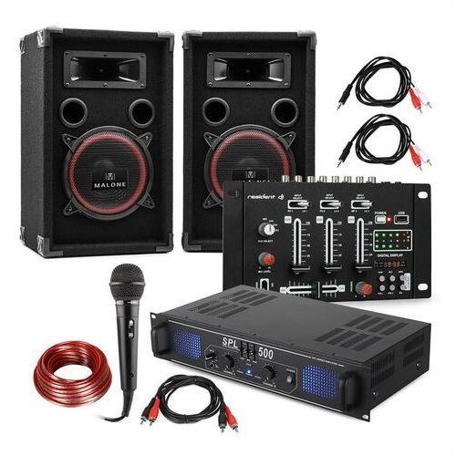 """Electronic-Star Zestaw DJ PA """"DJ-14"""" BT wzmacniacz PA mikser BT 2 x głośnik mikrofon karaoke (4060656089718)"""