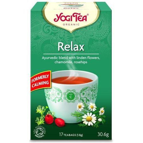 Yogi tea® Ajurwedyjska herbata relaksująca z kwiatem lipy, rumiankiem i owocem dzikiej róży (relax)