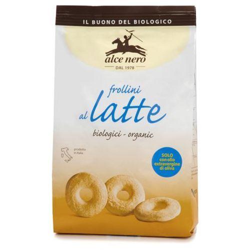 Herbatniki mleczne bio 250 g - alce nero marki Alce nero (włoskie produkty)