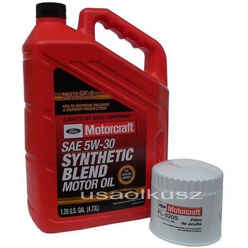Oryginalny filtr oraz syntetyczny olej silnikowy 5w30 ford explorer 4,0 2001- marki Motorcraft