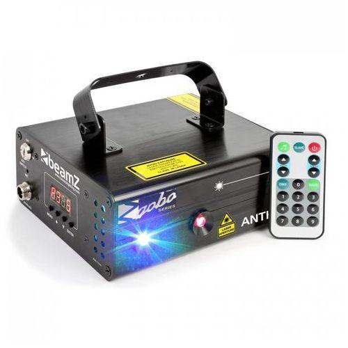 Anthe ii laser dwupromieniowy 9 w rgb 12 efektów gobos 7-dmx master/slave marki Beamz