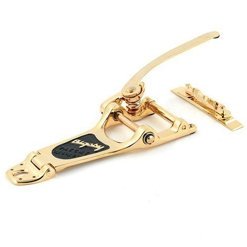 Bigsby b7 vibrato gold plated left w- bridge, for thin a″e-guitars mostek