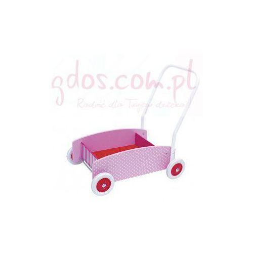 Drewniany chodzik, wózek -pchacz pink - sprawdź w wybranym sklepie