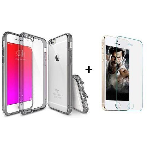 Zestaw | Rearth Ringke Fusion Smoke Black + Szkło ochronne | Etui dla Apple iPhone 6 Plus / 6S Plus, kolor czarny