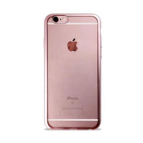 Puro Etui satin cover do apple iphone 6/6s czerwono-złoty ipc647satinrgold (8033830161377)