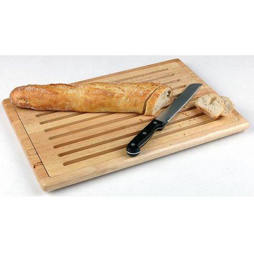 Deska prostokątna drewniana do krojenia pieczywa z tacą na okruchy | różne wymairy marki Aps