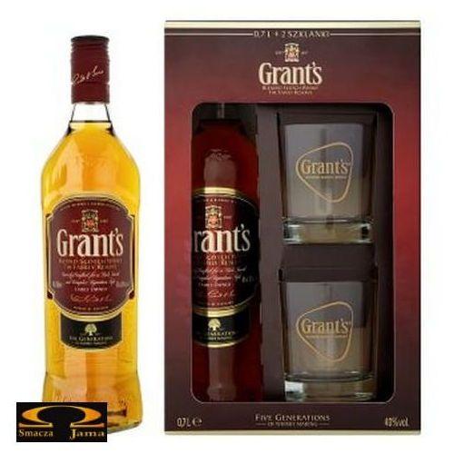Whisky grant's 12yo 0,7l w zestawie ze szklankami marki William grant & sons