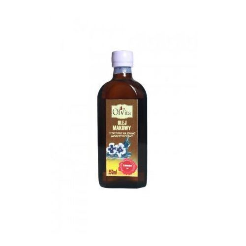 Olej makowy tłoczony na zimno nieoczyszczony 250ml, OLEJ MAKOWY 250ml
