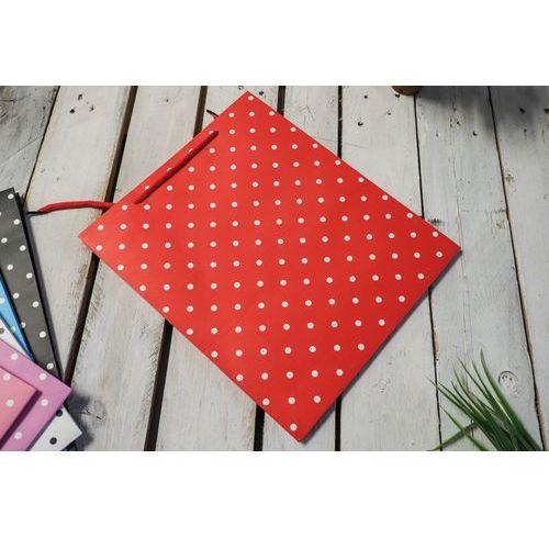 Torba prezentowa czerwona 30x10 cm marki Giardino / pozostałe