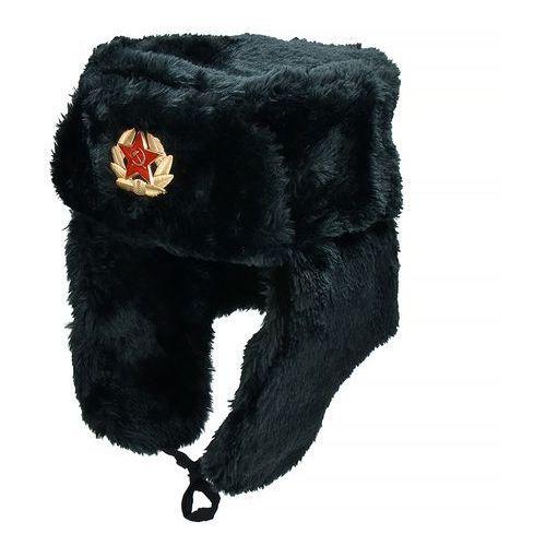 Mfh czapka uszatka rosyjska uszanka czarna - czarny