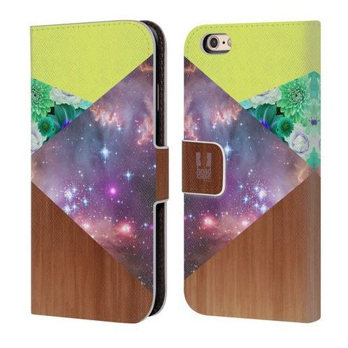 Head case Etui portfel na telefon - trend mix galaxy geometric wood