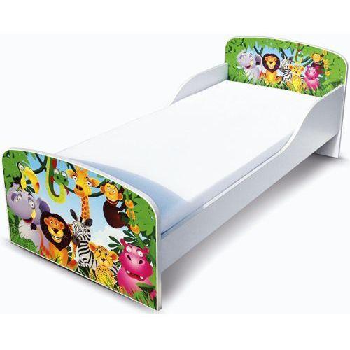 Białe łóżko dziecięce - drewniane, Pocztówka z zoo, produkt marki maxima (dystrybutor)