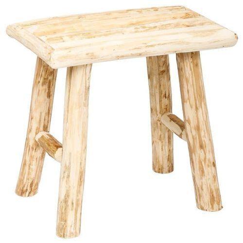 Stołek drewniany - prostokątny taboret, podnóżek, 34 x 24 x 32 cm