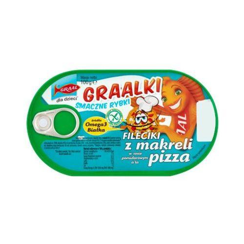 GRAAL 100g Graalki Fileciki z makreli w sosie pomidorowym a'la pizza Dla dzieci
