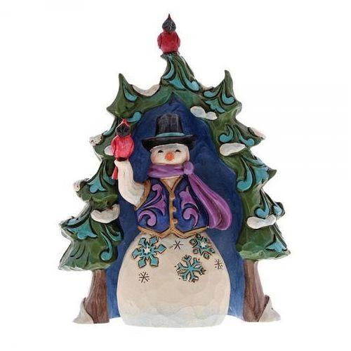 Bałwanek i świąteczne drzewko Snowman And Tree Gift Set 4060313 Jim Shore figurka ozdoba świąteczna