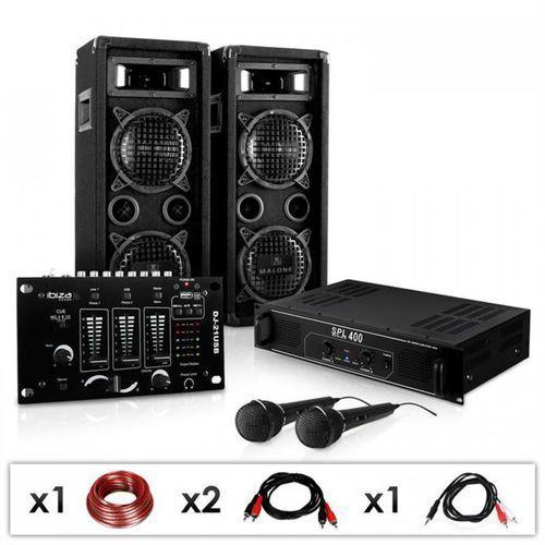 """Electronic-star pa dj zestaw """"dj-24m"""" końcówka mocy, mikser mikrofon 1200w (4260275627630)"""