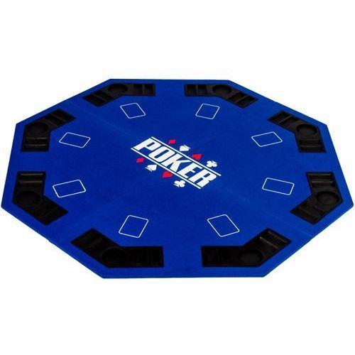 Mks Niebieski blat stół do pokera 122x122 poker kasyno - niebieski (20030135)