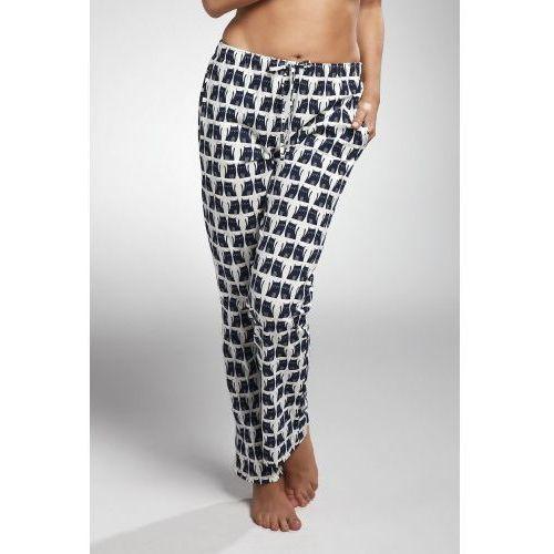 Bawełniane spodnie damskie do piżamy Cornette 690/11 szare (5902458107544)