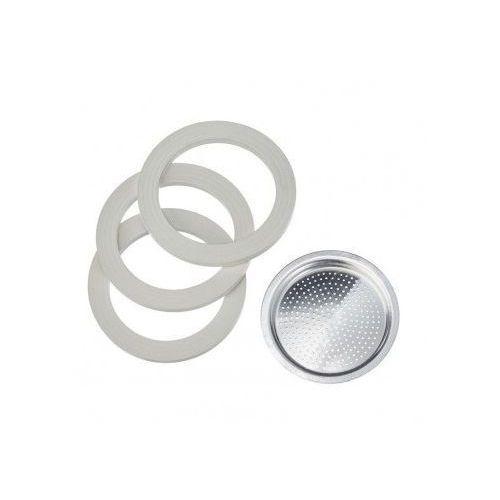 3 uszczelki + sitko do kawiarek aluminiowych Bialetti 3-4tz. (8006363010405)