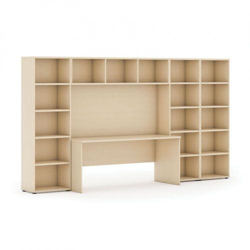 Biblioteka INTEGRO niska/szeroka, 3350x700/400x1923 mm, brzoza