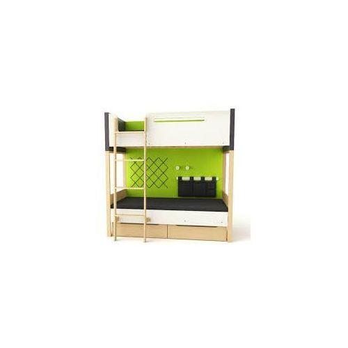 Loft łóżko piętrowe z pojemnikami TIMOORE PLUS graphite - wersja premium - oferta [054a4c7237951564]