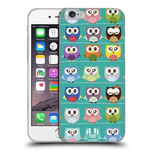 Head case Etui silikonowe na telefon - kawaii owl green pattern