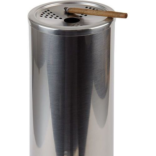 Kosz na śmieci ze stali nierdzewnej z nakładaną popielniczką o średnicy 90 mm   , smokers point marki Aps