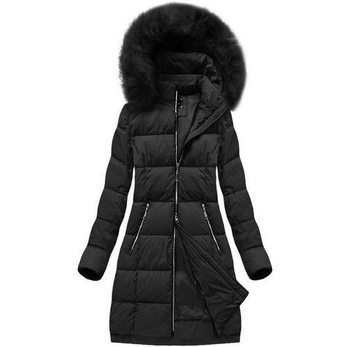 57dcccc757f7e DŁUGA KURTKA Z KAPTUREM CZARNA (7702BIG) - czarny, kolor czarny 179,90 zł  niezwykle ciepła, dłuższa kurtka zimowa z kapturem. O konwencjonalnym kroju.