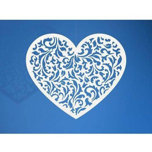 Dekoracja papierowa serce - 12 x 10 cm - 10 szt. marki Party deco