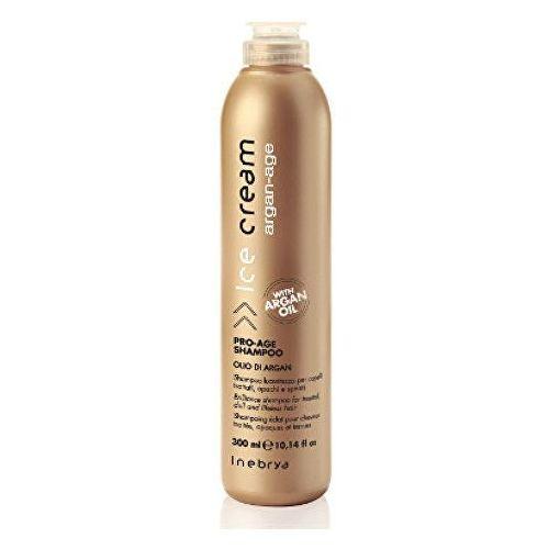 Inebrya argan age, szampon do włosów dojrzałych z olejkiem arganowym, 300ml (8033219166849)