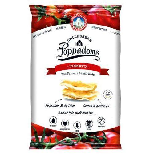 Uncle saba's Chipsy poppadoms z soczewicy o smaku pomidorów 50g - (9555243803990)