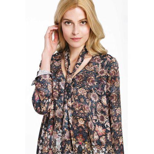 Elegancka bluzka w kwiaty z włoskiej wiskozy - Potis & Verso, 1 rozmiar