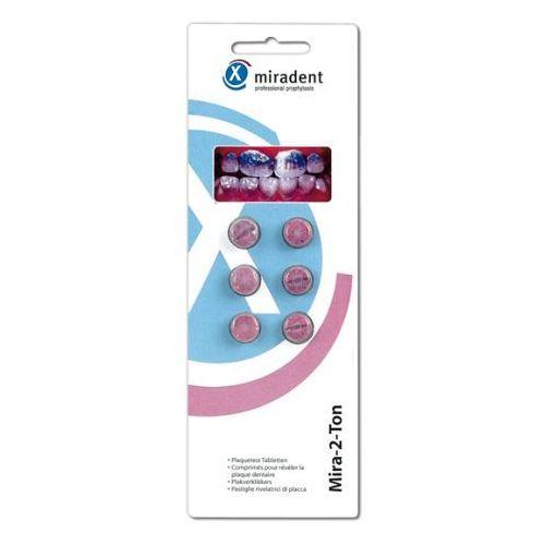 Miradent Mira-2-Ton - Tabletki do wybarwiania płytki nazębnej 6szt. z kategorii Pozostałe środki dentystyczne