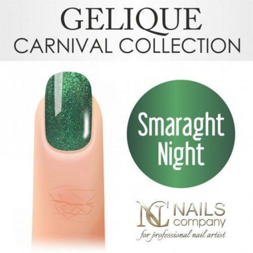 Nails Company GELIQUE SMARAGHT NIGHT 6ML - Żel hybrydowy, 40456