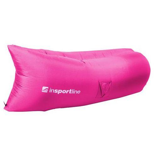 Dmuchany leżak lazy bag na lato inSPORTline Sofair materac fotel, Szary (8596084035134)